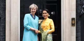 Theresa May and burmese counselor