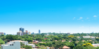 View of Asunción from neighbourhood