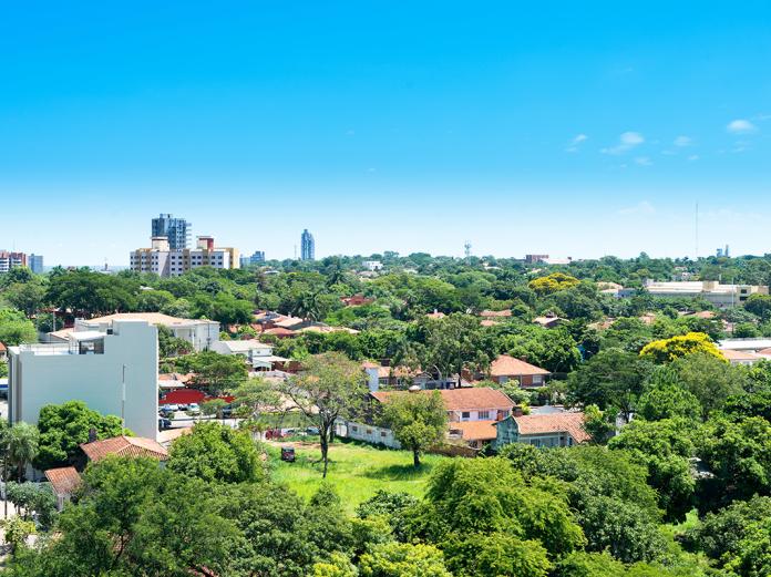 View of Asunción from neighbourhood