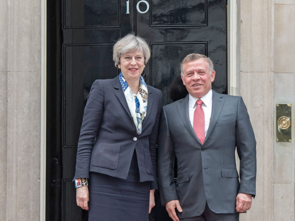 King Abdullah II of Jordan with Prime Minister Theresa May
